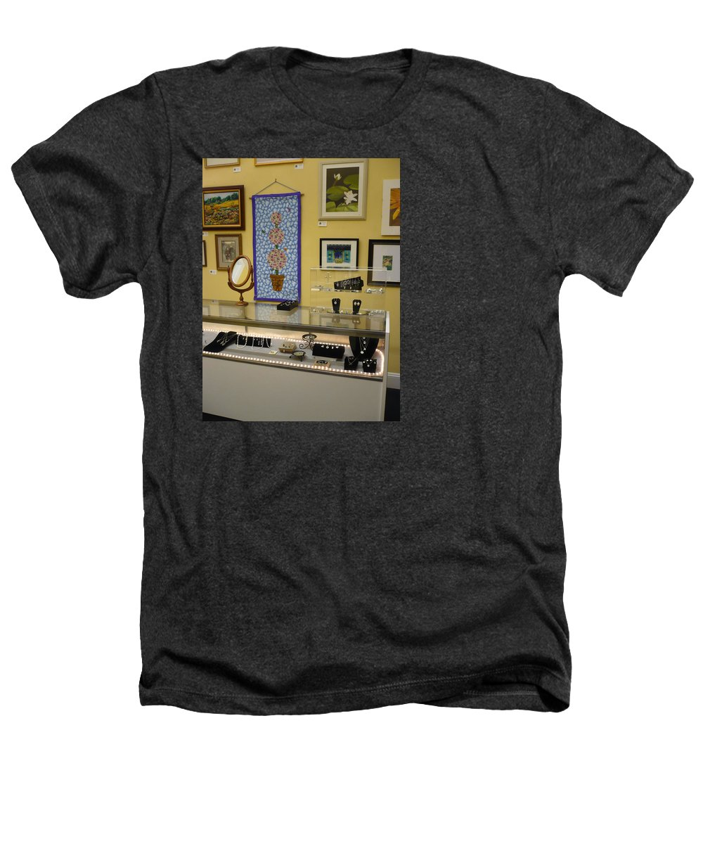 Oil Heathers T-Shirt featuring the painting World-view by Sergey Ignatenko