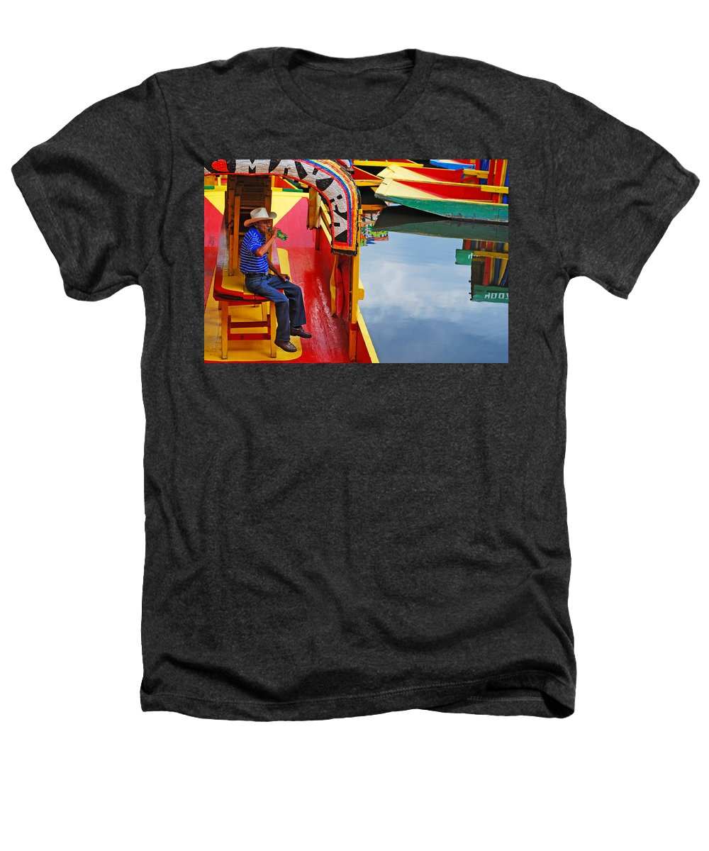 Skip Hunt Heathers T-Shirt featuring the photograph Xochimilco by Skip Hunt