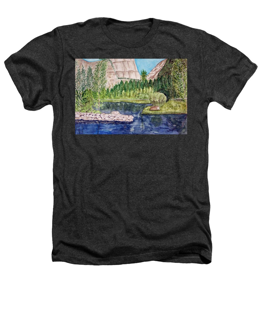 Yosemite National Park Heathers T-Shirt featuring the painting Yosemite by Larry Wright