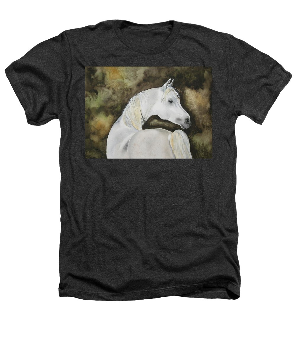 Horse Heathers T-Shirt featuring the painting You Talking To Me by Jean Blackmer