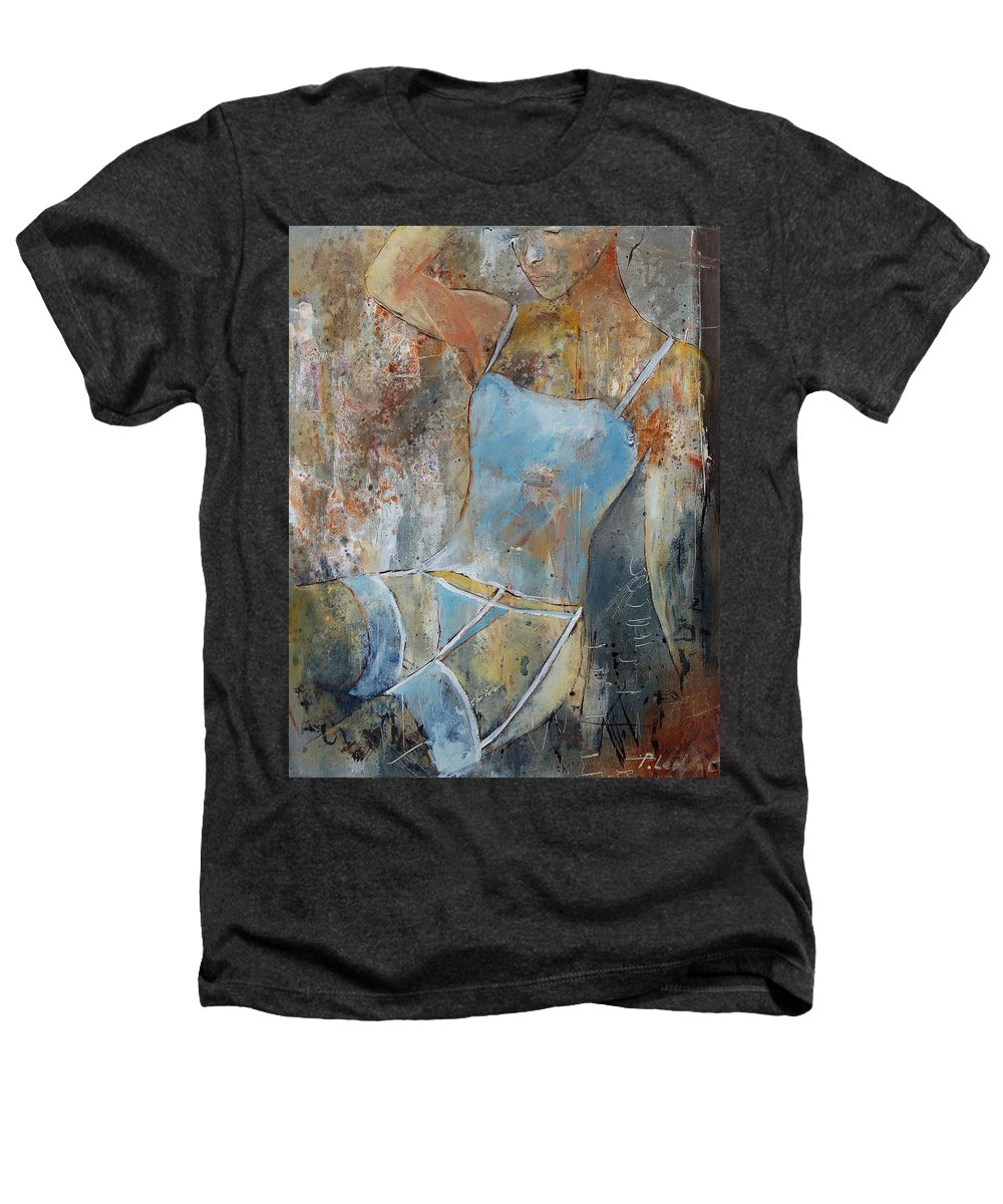 Nude Heathers T-Shirt featuring the painting Young Girl 451108 by Pol Ledent