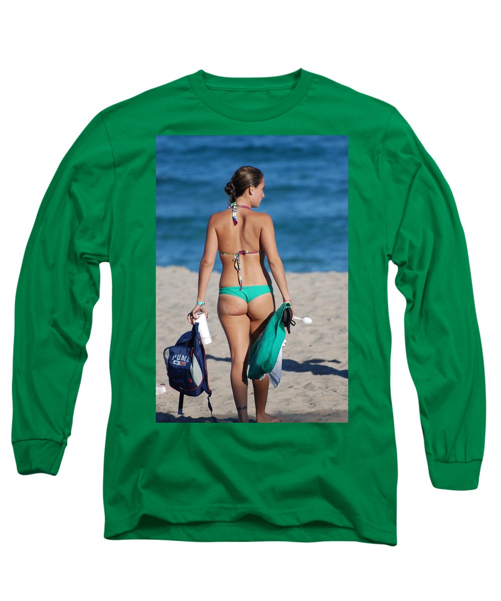 Girl Long Sleeve T-Shirt featuring the photograph Domino by Rob Hans