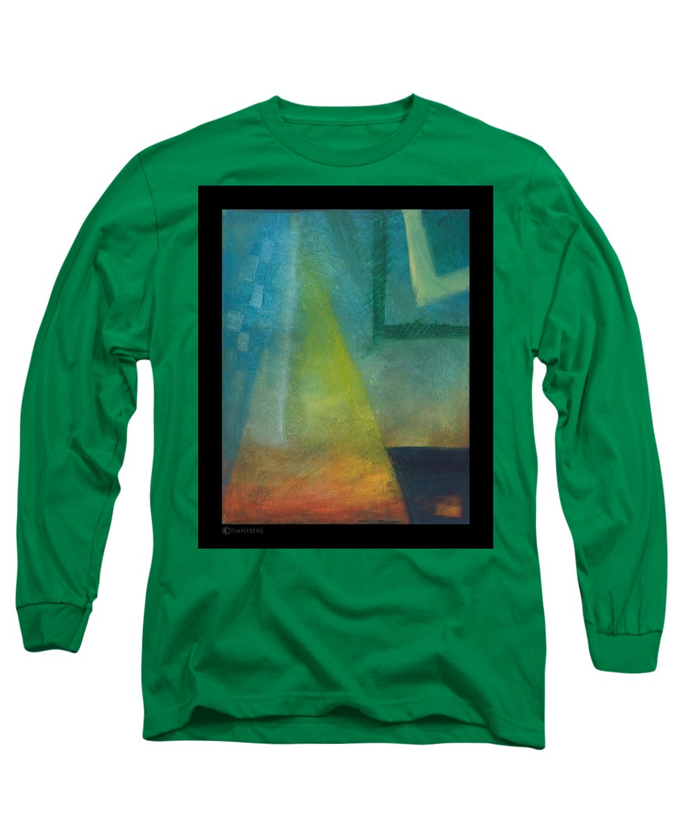 Sunset Long Sleeve T-Shirt featuring the painting Sunset Sail by Tim Nyberg