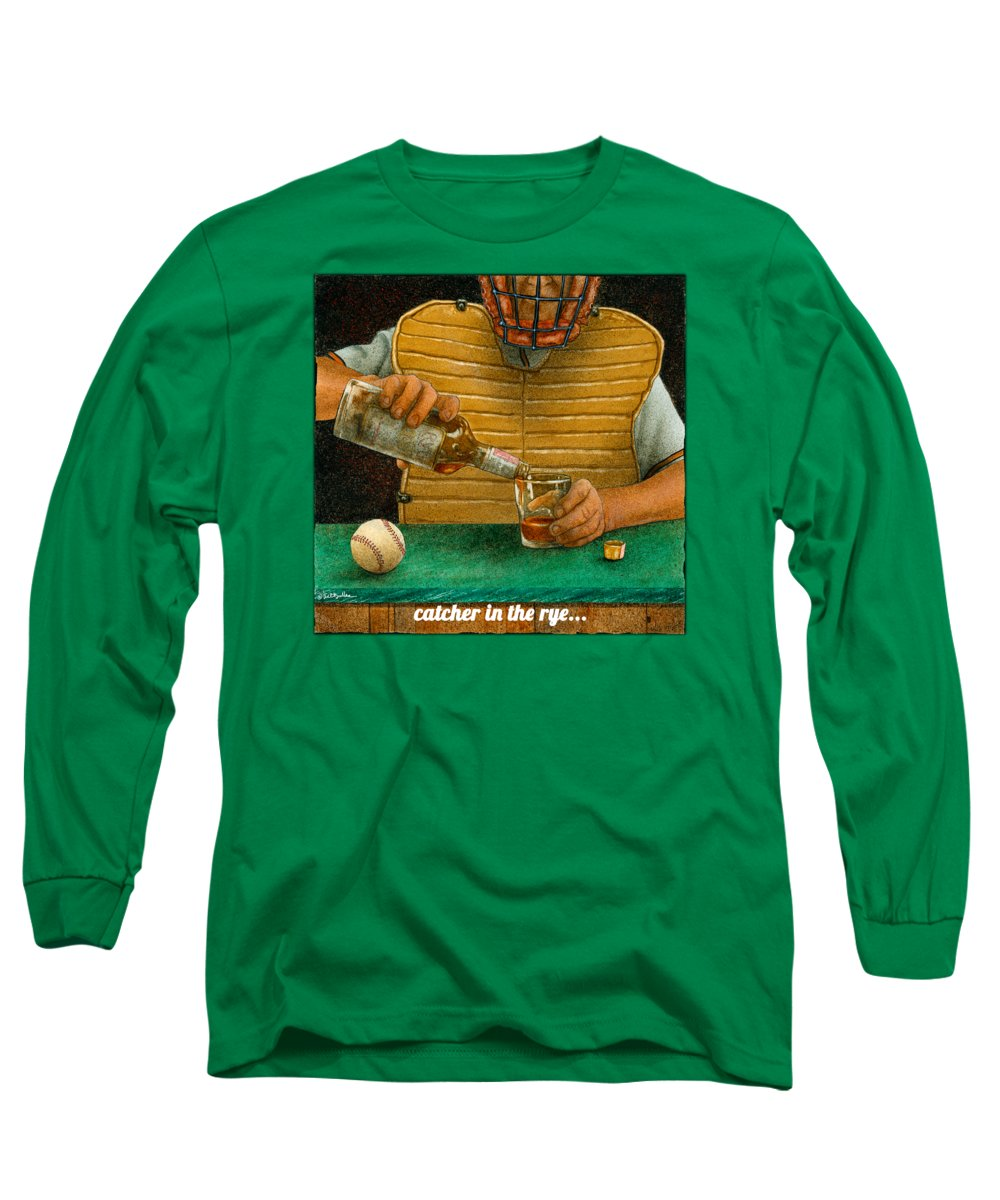 Will Bullas Long Sleeve T-Shirt featuring the painting Catcher In The Rye... by Will Bullas