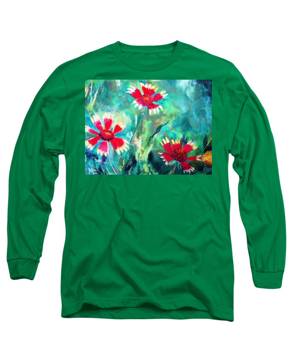 Flowers Long Sleeve T-Shirt featuring the painting East Texas Wild Flowers by Melinda Etzold