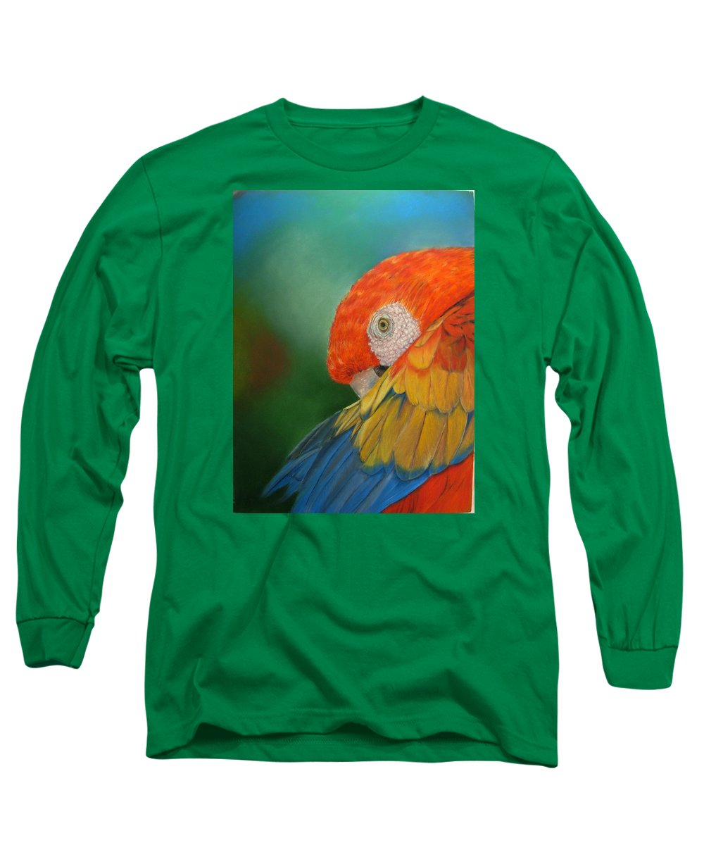 Bird Long Sleeve T-Shirt featuring the painting Escondida by Ceci Watson