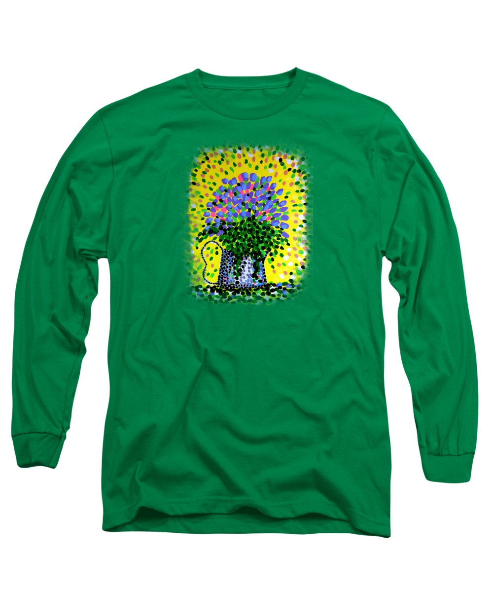 Flowers Long Sleeve T-Shirt featuring the painting Explosive Flowers by Alan Hogan