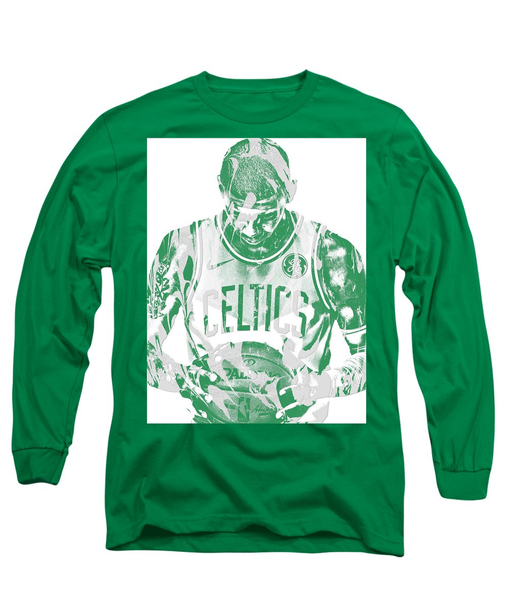 ae34251bf7d3 Kyrie Irving Long Sleeve T-Shirt featuring the mixed media Kyrie Irving  Boston Celtics Pixel