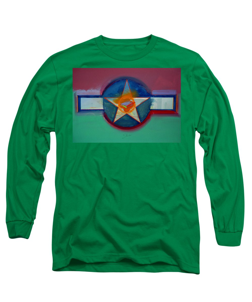 Star Long Sleeve T-Shirt featuring the painting Landscape In The Balance by Charles Stuart