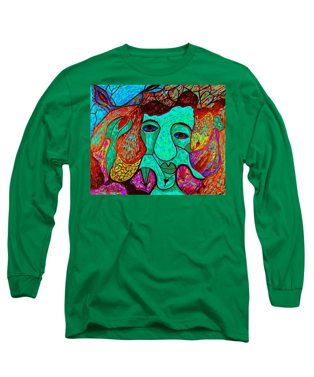 Man Long Sleeve T-Shirt featuring the painting Looking For Love by Natalie Holland