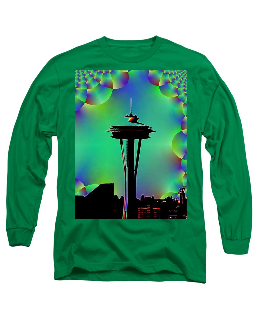 Seattle Long Sleeve T-Shirt featuring the digital art Needle In Fractal 3 by Tim Allen