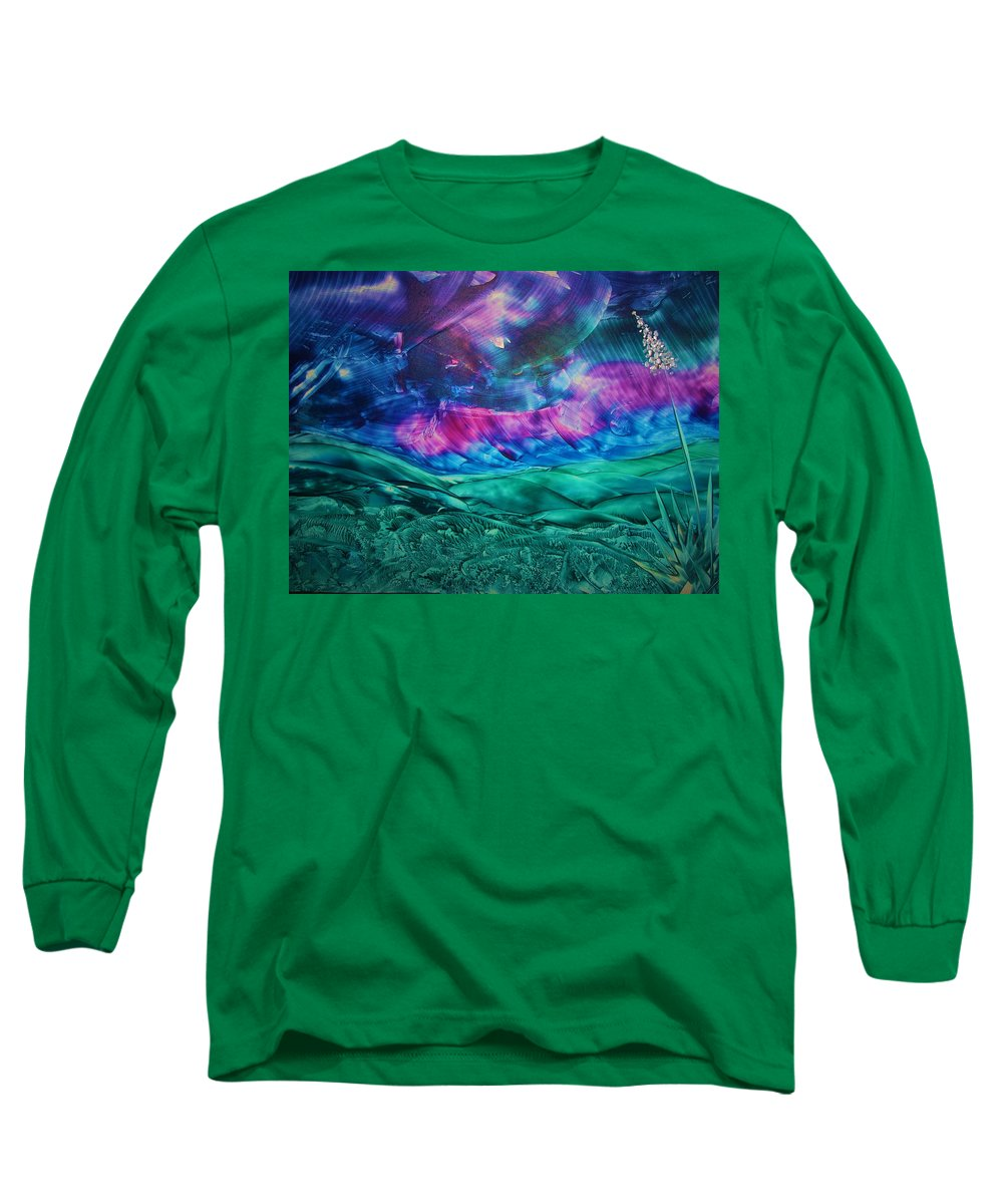 Desert Long Sleeve T-Shirt featuring the print Sierra Vista by Melinda Etzold