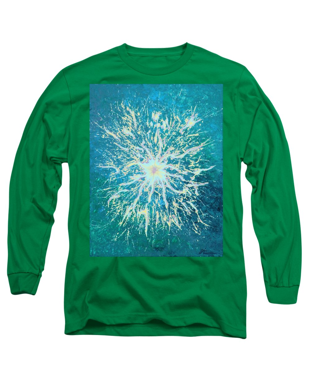 Acrylic Long Sleeve T-Shirt featuring the painting Static by Todd Hoover