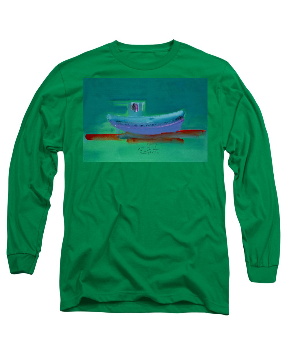 Deep Long Sleeve T-Shirt featuring the painting Stormbringer by Charles Stuart