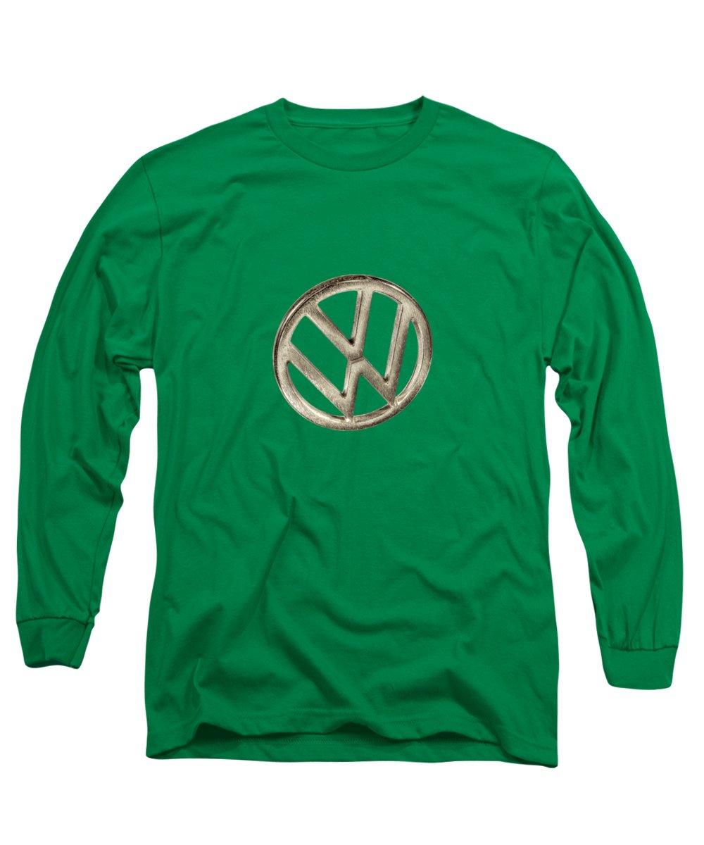 Automotive Long Sleeve T-Shirt featuring the photograph VW Car Emblem by YoPedro