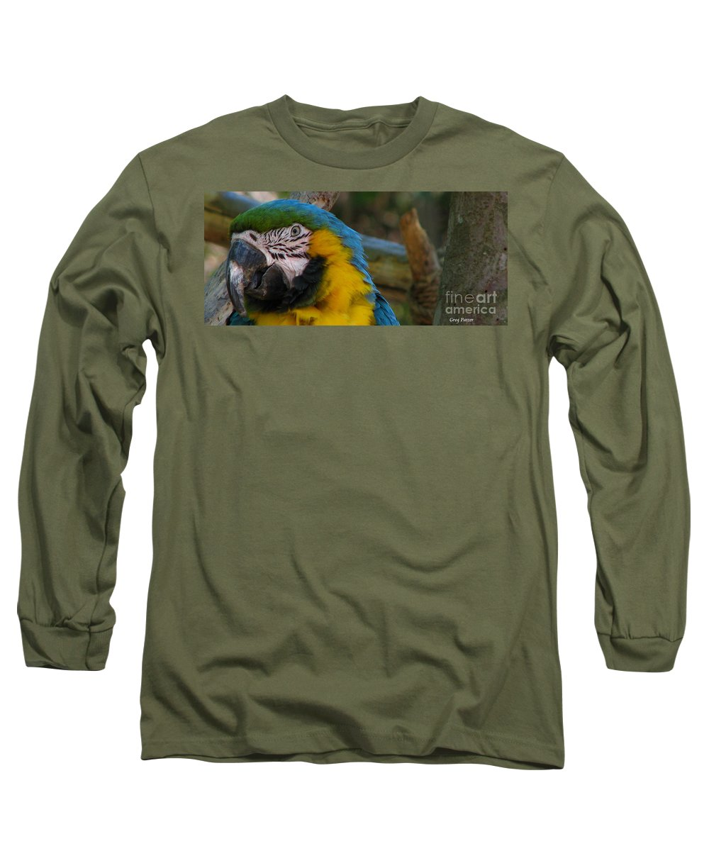 Patzer Long Sleeve T-Shirt featuring the photograph Blue And Gold by Greg Patzer