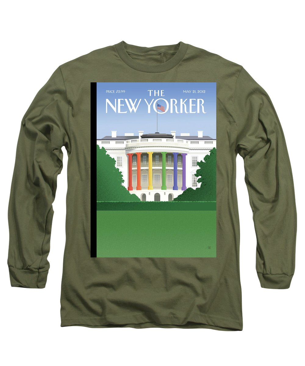 President Long Sleeve T-Shirt featuring the painting Spectrum Of Light by Bob Staake