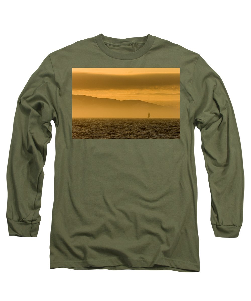 Sunset Long Sleeve T-Shirt featuring the photograph Acadia National Park Sunset by Sebastian Musial