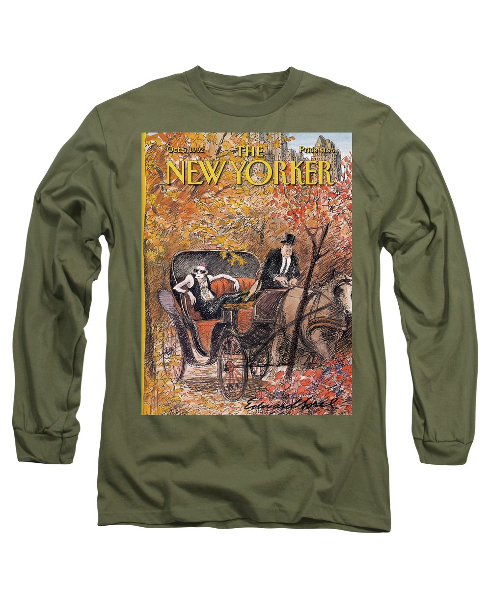 Artkey 50687 Eso Long Sleeve T-Shirt featuring the painting New Yorker October 5th, 1992 by Edward Sorel