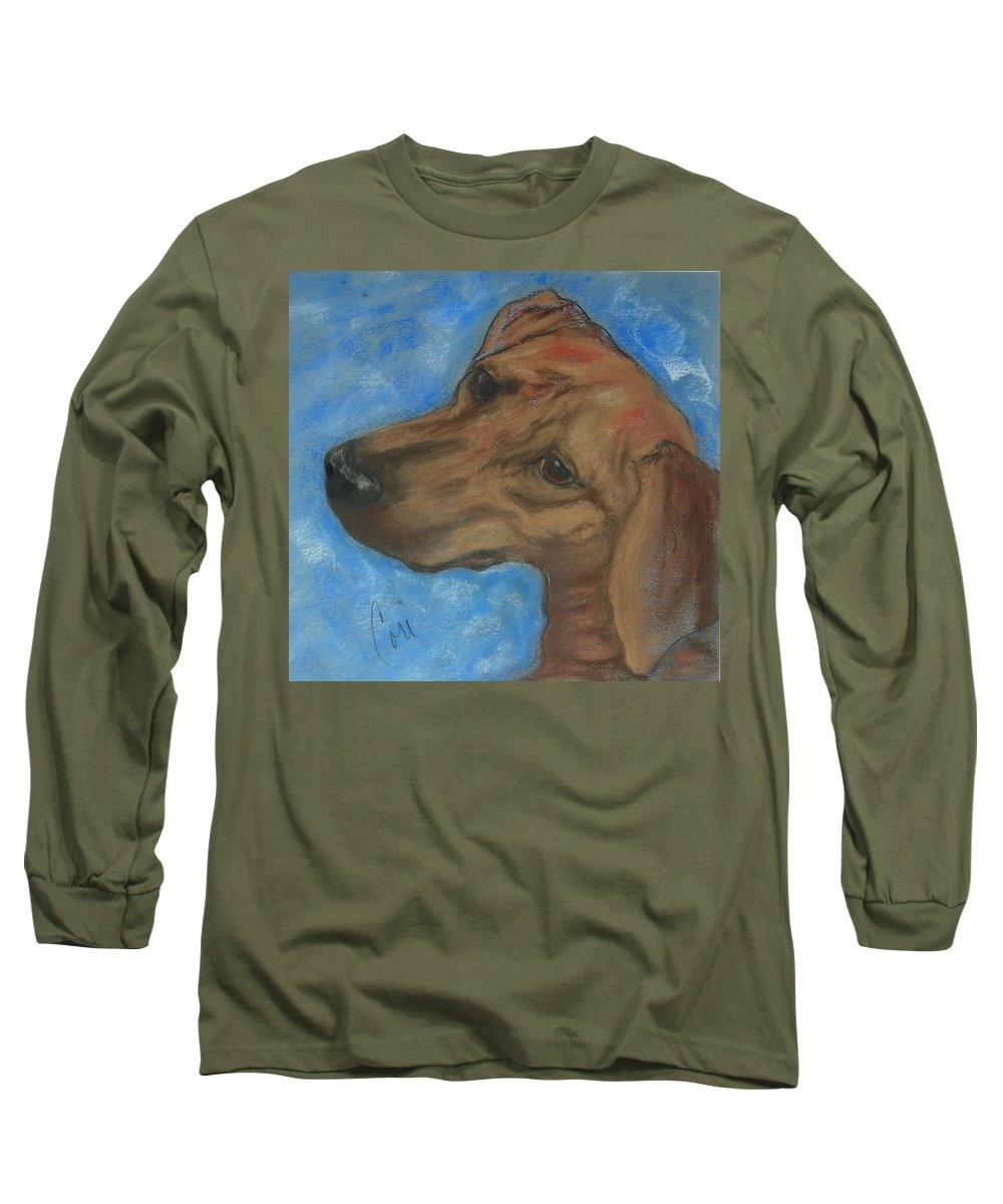 Pastel Long Sleeve T-Shirt featuring the drawing A Twist Of Might by Cori Solomon
