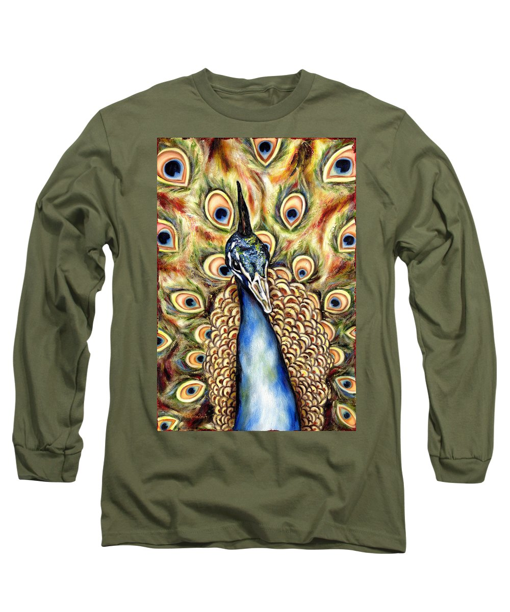 Bird Long Sleeve T-Shirt featuring the painting Applause by Hiroko Sakai