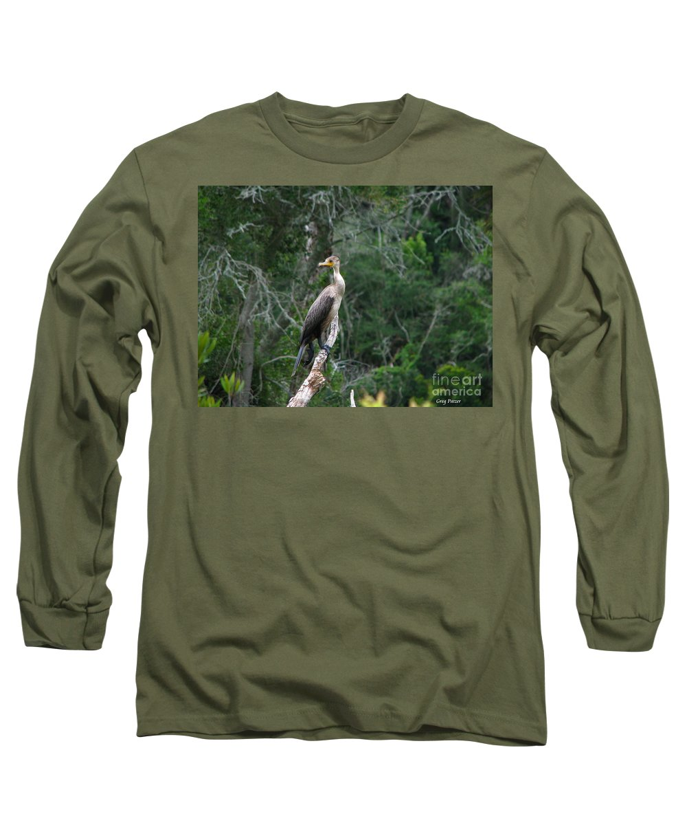 Patzer Long Sleeve T-Shirt featuring the photograph Bristol Cormorant by Greg Patzer