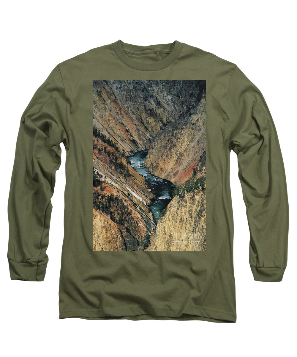 Yellowstone Long Sleeve T-Shirt featuring the photograph Canyon Jewel by Kathy McClure