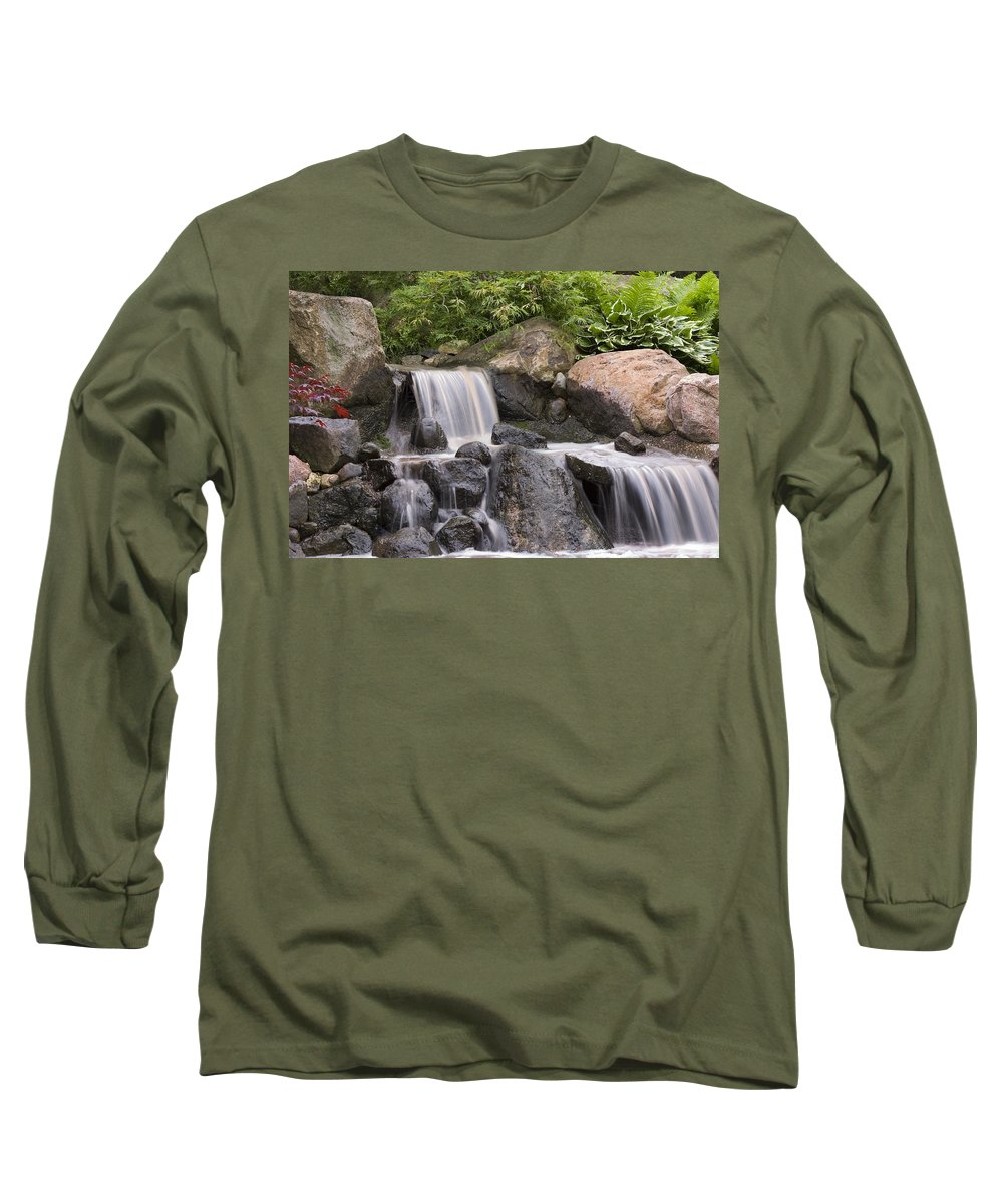 3scape Long Sleeve T-Shirt featuring the photograph Cascade Waterfall by Adam Romanowicz