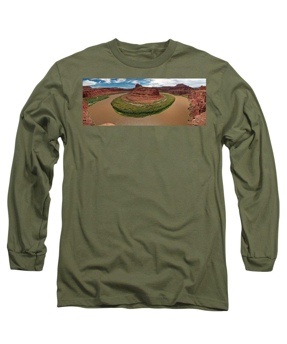 3scape Photos Long Sleeve T-Shirt featuring the photograph Colorado River Gooseneck by Adam Romanowicz