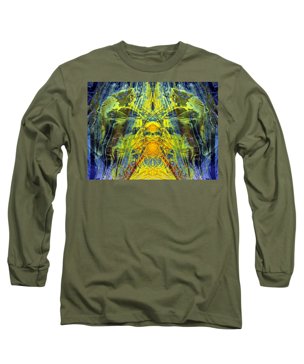 Surrealism Long Sleeve T-Shirt featuring the digital art Decalcomaniac Intersection 1 by Otto Rapp