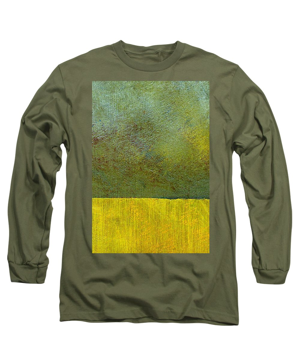 Abstract Landscape Long Sleeve T-Shirt featuring the painting Earth Study Two by Michelle Calkins