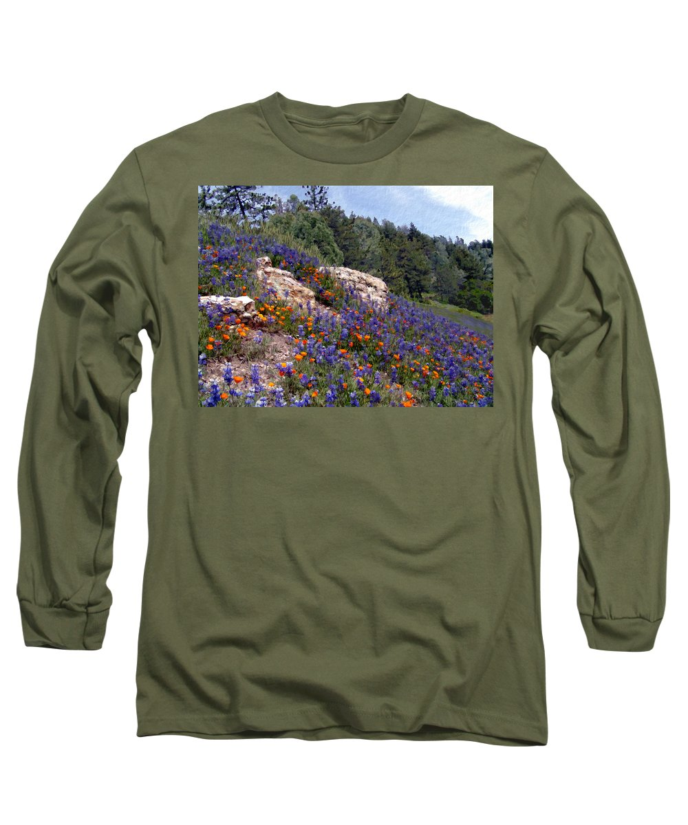 Flowers Long Sleeve T-Shirt featuring the photograph Figueroa Mountain Splendor by Kurt Van Wagner