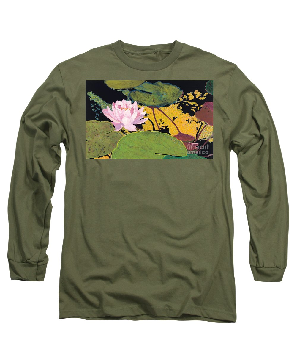 Landscape Long Sleeve T-Shirt featuring the painting Georgia Summer by Allan P Friedlander