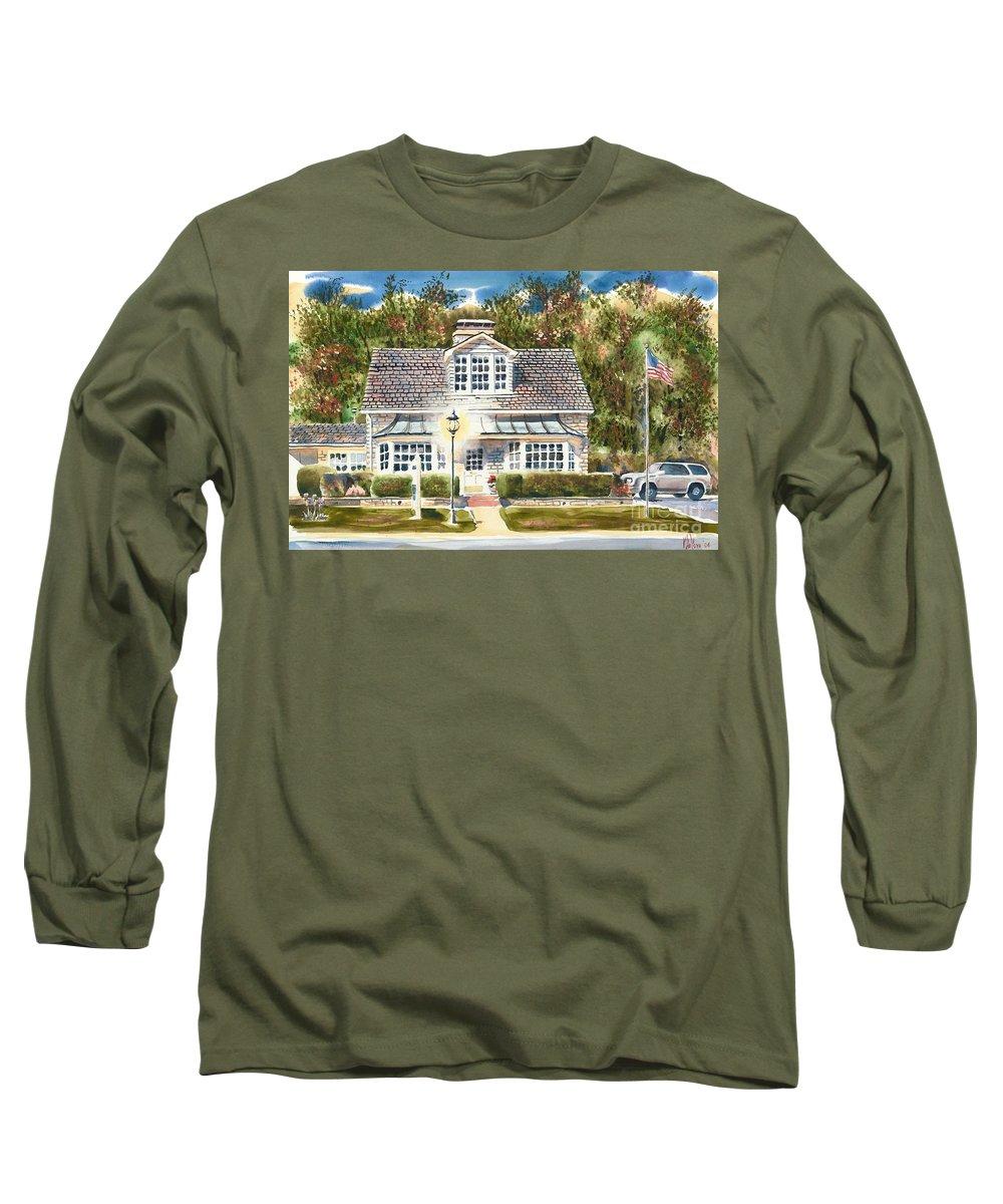 Greystone Inn Ii Long Sleeve T-Shirt featuring the painting Greystone Inn II by Kip DeVore