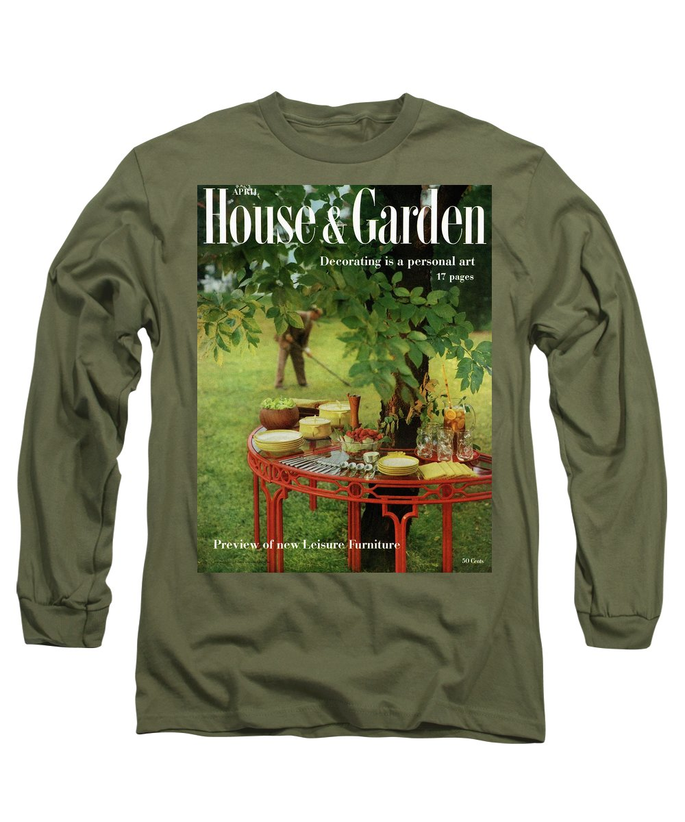 Landscape Long Sleeve T-Shirt featuring the photograph House And Garden Cover by Horst P. Horst