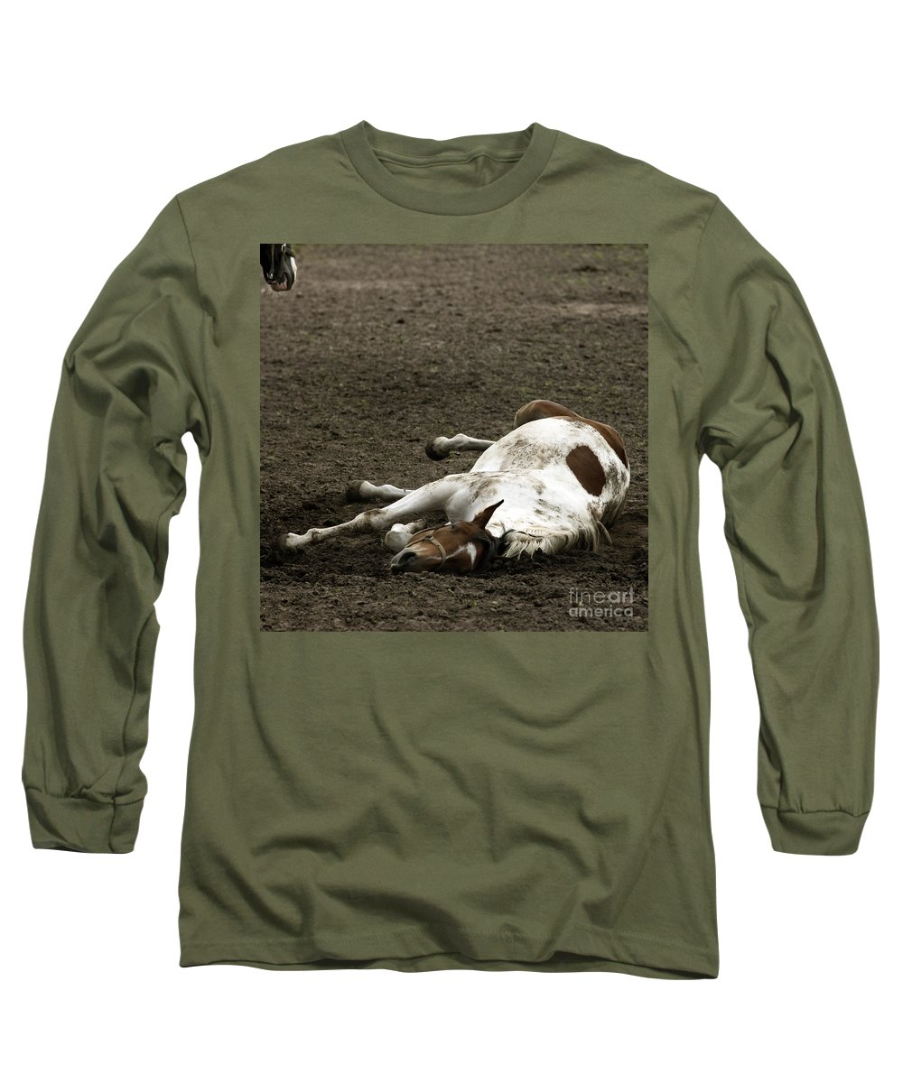 Relax Long Sleeve T-Shirt featuring the photograph Just Relax by Angel Ciesniarska
