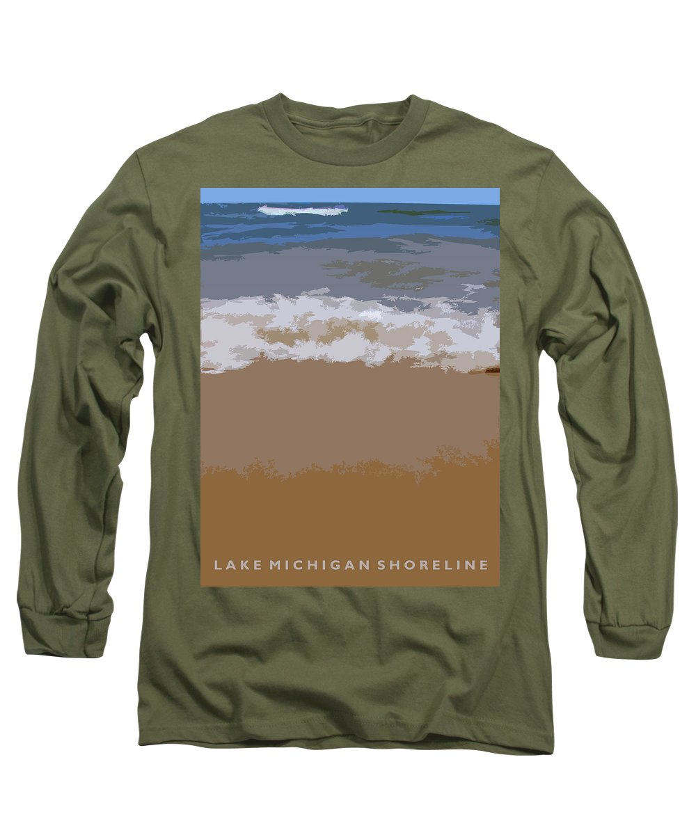 Beach Long Sleeve T-Shirt featuring the photograph Lake Michigan Shoreline by Michelle Calkins