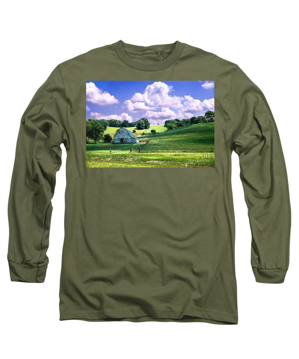 Landscape Long Sleeve T-Shirt featuring the photograph Missouri River Valley by Steve Karol