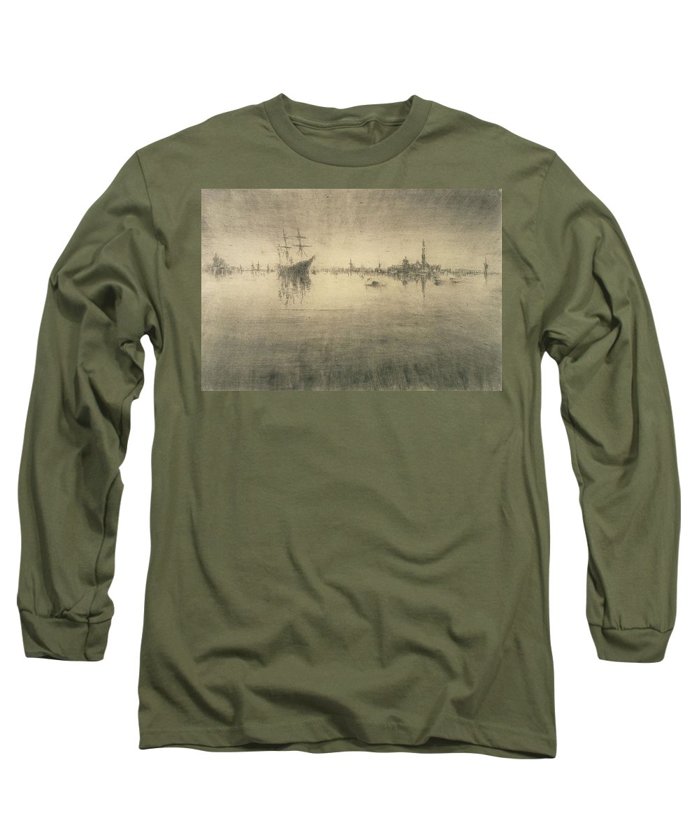 Boat Silhouette Drawings Long Sleeve T-Shirts