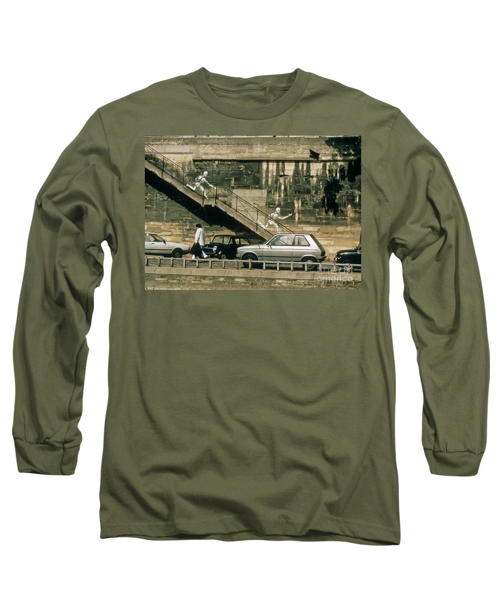 Paris Long Sleeve T-Shirt featuring the photograph Paris Wall by Thomas Marchessault