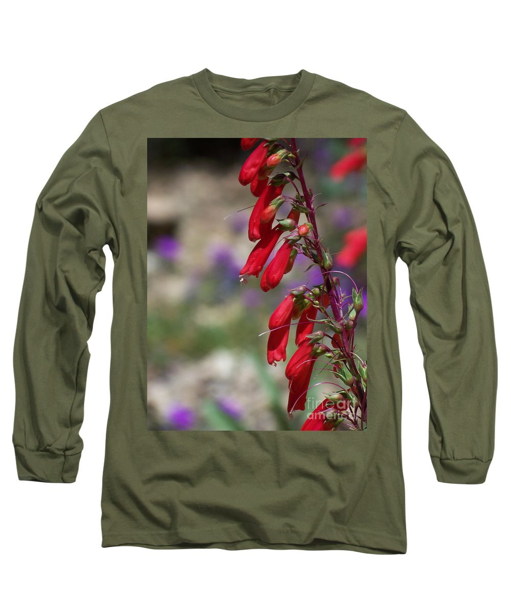 Flowers Long Sleeve T-Shirt featuring the photograph Penstemon by Kathy McClure