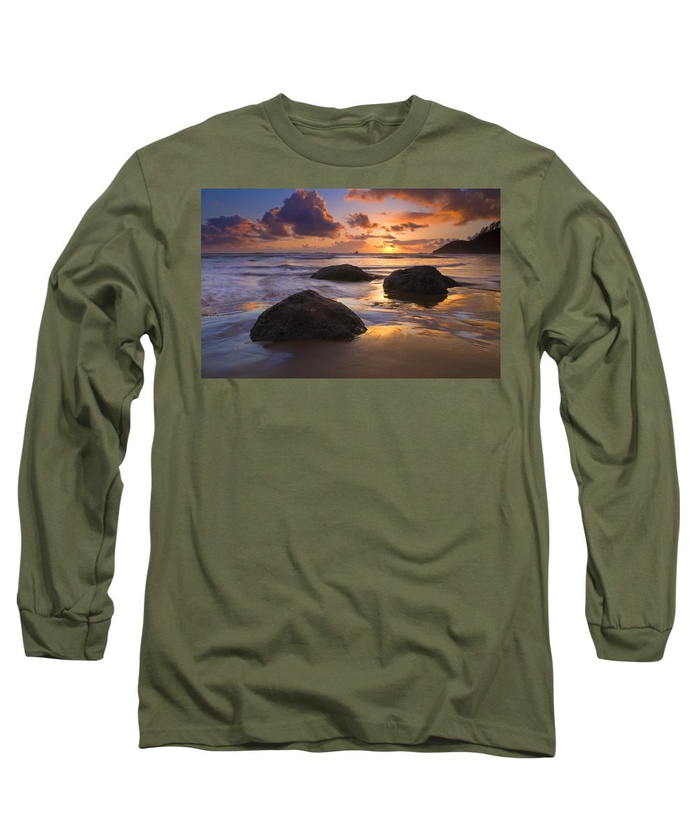 Sunset Long Sleeve T-Shirt featuring the photograph Pieces Of Eight by Mike Dawson