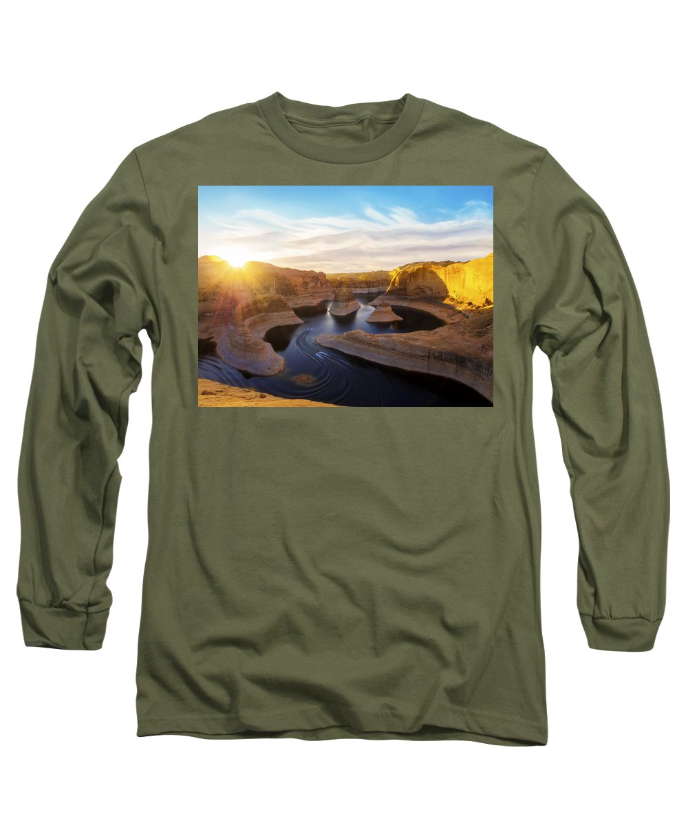 Utah Long Sleeve T-Shirt featuring the photograph Reflection Canyon by Dustin LeFevre