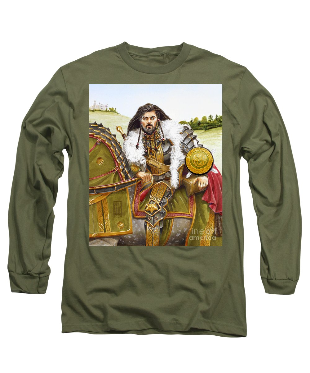Fine Art Long Sleeve T-Shirt featuring the painting Sir Marhaus by Melissa A Benson