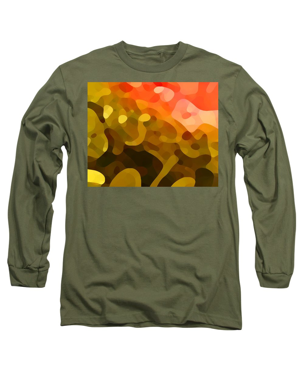 Abstract Long Sleeve T-Shirt featuring the painting Spring Day by Amy Vangsgard