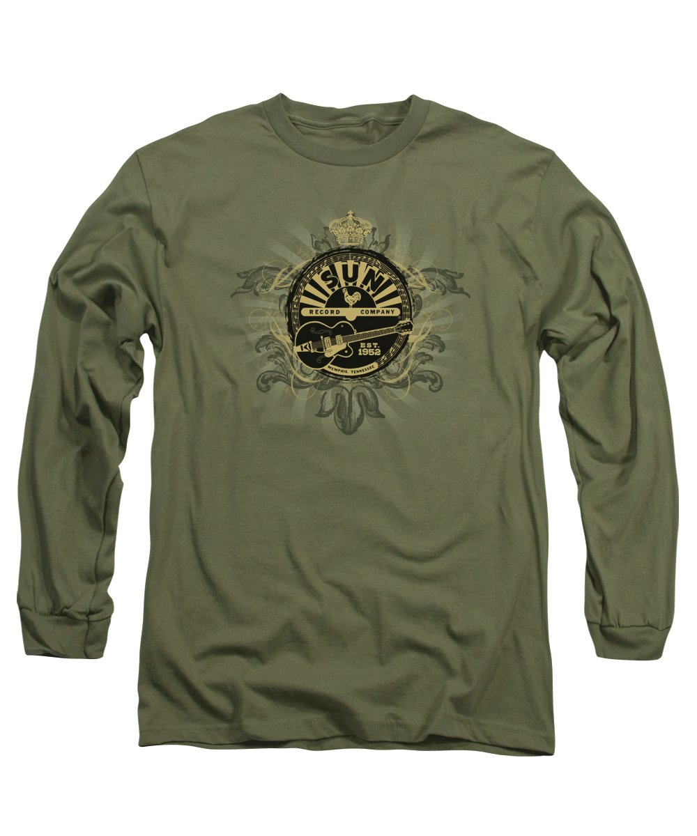 Sun Record Company Long Sleeve T-Shirt featuring the digital art Sun - Rock Heraldry by Brand A