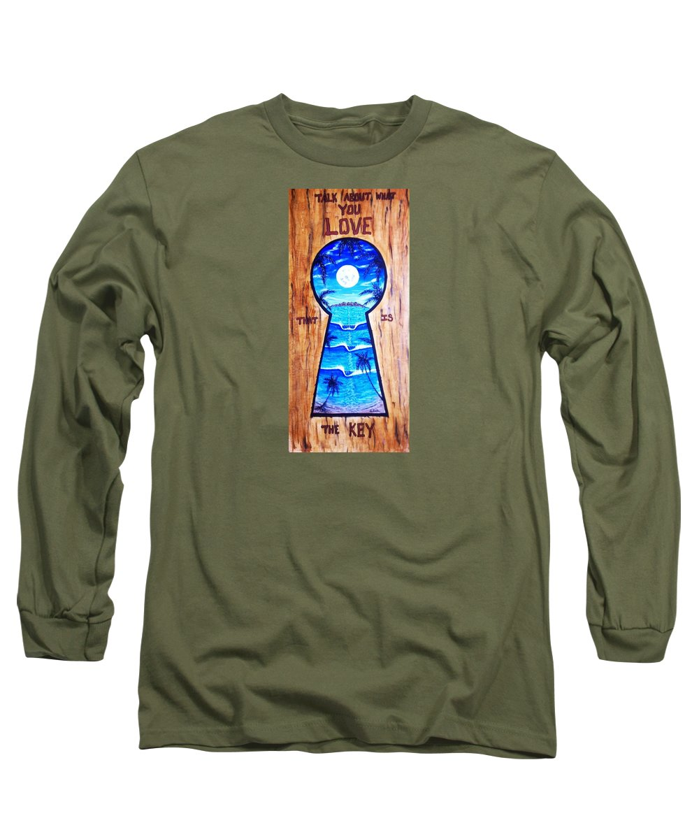 Lovepainting Long Sleeve T-Shirt featuring the painting Talk About Love by Paul Carter