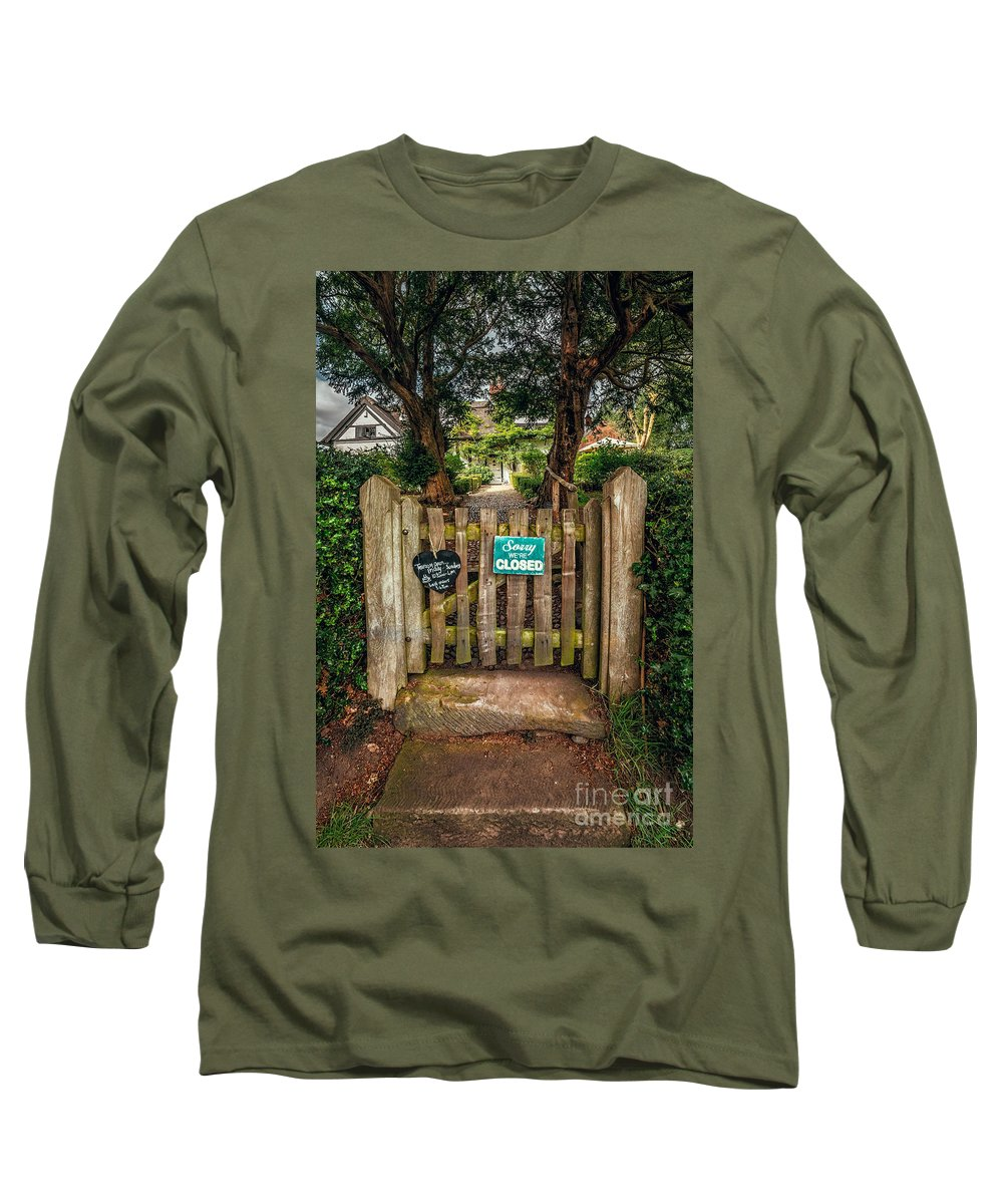British Long Sleeve T-Shirt featuring the photograph Tea Room Gate by Adrian Evans