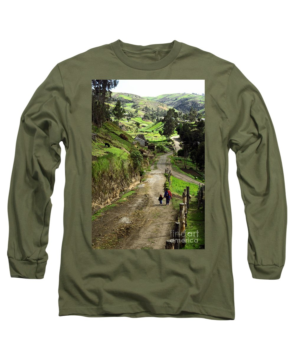 Ecuador Long Sleeve T-Shirt featuring the photograph View Of Lupaxi by Kathy McClure