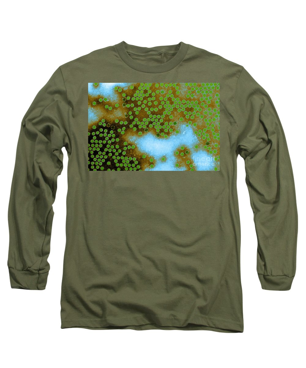 All Use Long Sleeve T-Shirt featuring the photograph Poliovirus, Tem by CDC/Science Source
